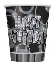 8 bicchieri Happy Birthday