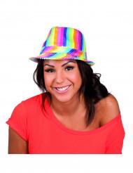 Cappello borsalino multicolore paillettes adulto