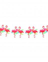Festone fenicottero rosa Hawaii cartonato