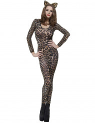 Costume leopardo marrone adulto