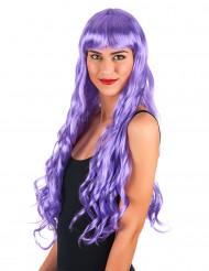Parrucca lunga ondulata violetta da sirena - donna