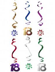 6 decorazioni da appendere spirale 18 anni