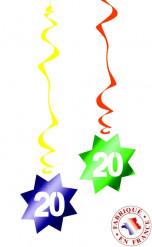 6 decorazioni da appendere spirale 20 anni