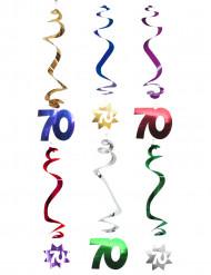 6 decorazioni da appendere spirale 70 anni