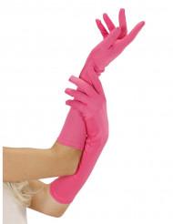 Guanti rosa fluo lunghi
