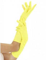 Guanti giallo fluo adulto