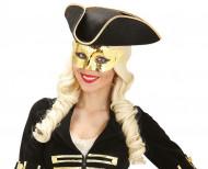 Maschera dorata metallizzata