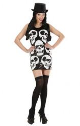 Vestito Halloween con teschi donna