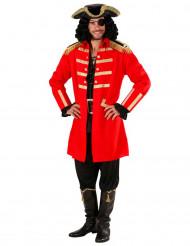 Costume capitano dei pirati rosso uomo