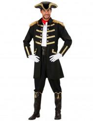 Costume capitano dei pirati nero da uomo