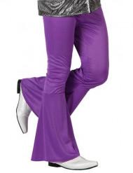 Pantaloni disco viola per uomo