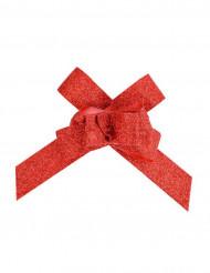 10 fiocchi rossi paillettes