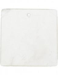6 segnaposto quadrati bianchi