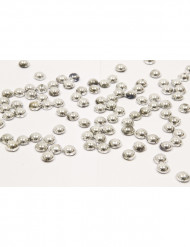 Perle di pioggia argentate
