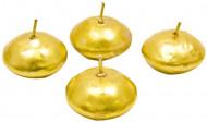4 candele galleggi dorate
