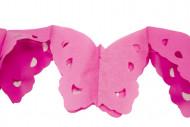 Ghirlanda carta papillon rosa