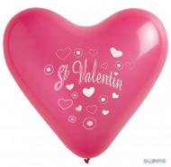 8 Palloncini a cuore San Valentino 35 cm