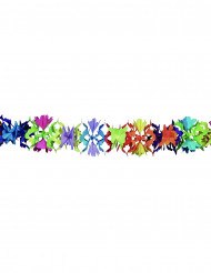 Ghirlanda di carta colorata fantasia a fiori
