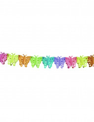Ghirlanda di carta con farfalle 4 metri