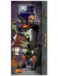Decorazione porta strega al bagno Halloween
