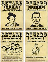Manifesti ricompensa banditi americani