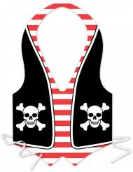 Grembiule in plastica pirata uomo