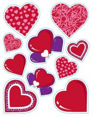 Adesivi a cuore San Valentino