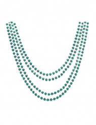 4 collane verde metallizzato