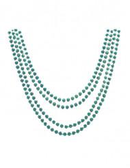 4 collane verde metallizzato