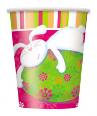 Bicchieri in cartone coniglio pasquale