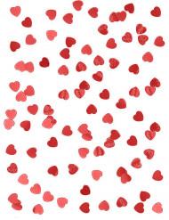 Coriandoli a cuore rosso metallizzato