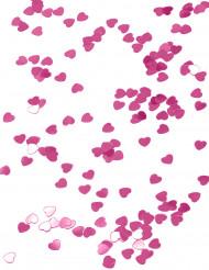 Coriandoli a cuore rosa scuro metallizzato