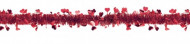 Ghirlanda rosso brillante con cuori san Valentino