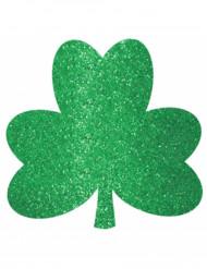 Decorazione trifoglio verde con paillettes