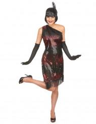 Costume charleston donna nero e rosso