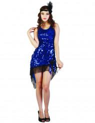Costume charleston sexy donna blu