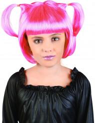 Parrucca manga rosa ragazza