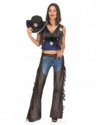 Costume da cowgirl sexycon gambali per donna