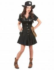 Costume cowgirl donna nero