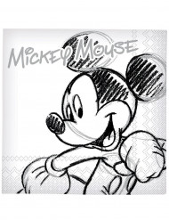 20 tovaglioli di carta Mickey black and white™