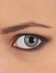 Lenti a contatto spirale bianche e nere