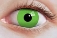 Lenti a contatto verdi fluo