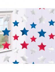 6 Decorazioni stella USA da appendere