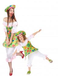 Costume coppia clown madre e figlia