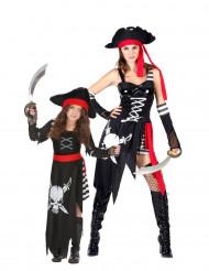 Costume coppia da pirata madre e figlia