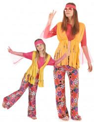 Costume coppia hippie dei fiori madre e figlia