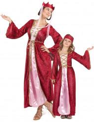 Costume coppia regine medievali madre e figlia