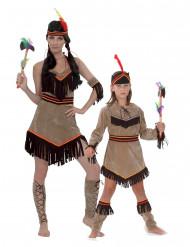 Costume per coppia da indiana madre e figlia