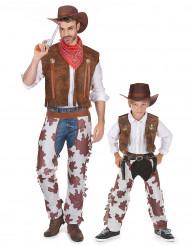 Costume coppia cowboy padre e figlio