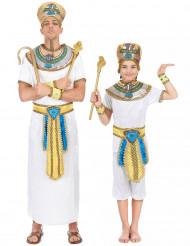Costume di coppia da antico egizio per padre e figlio